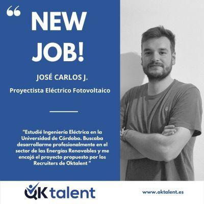 J. Carlos consiguió su trabajo actual a través de Oktalent